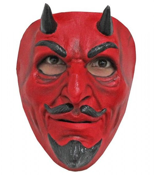 The Devil Face Mask Satan Lucifer Fancy Dress Cosplay